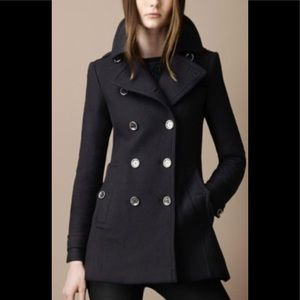 Burberry Brit Peacoat with Twill Back